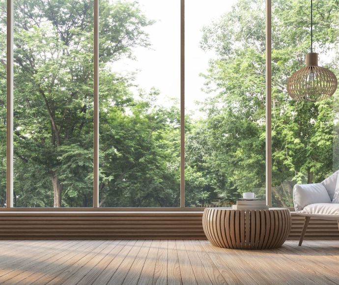 stock-photo-modern-living-room-with-nature-view-d-rendering-image-there-are-decorate-room-with-wood-there-595187249