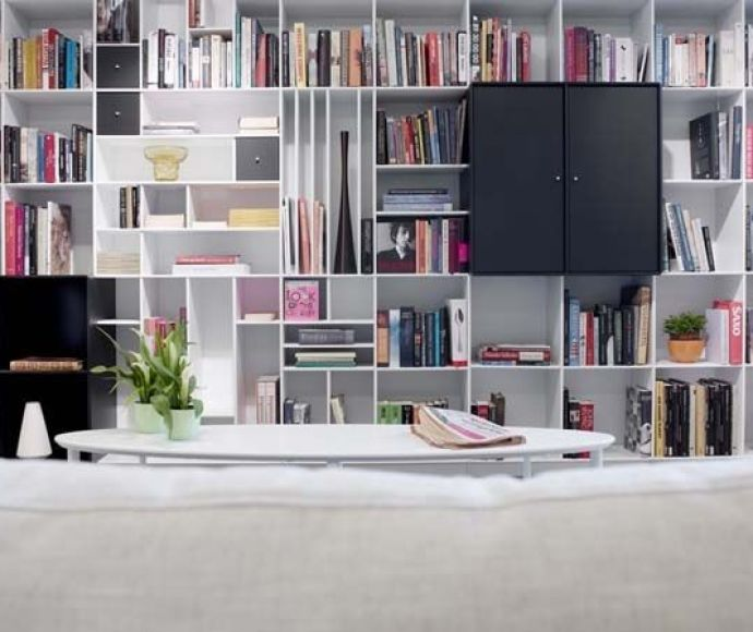 boekenkast op maat met dichte kasten
