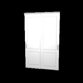 Schuifdeuren Lars wit hoogglans 2-deurs