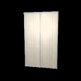 Schuifdeuren eiken wit 2-deurs