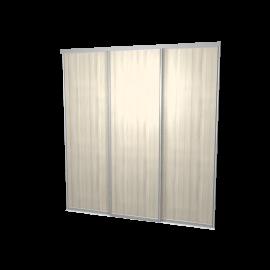 Schuifdeuren eiken wit 3-deurs