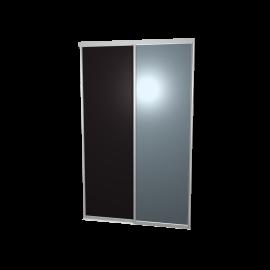 Schuifdeuren zwart en spiegel - 2-deurs