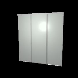 Schuifdeuren glas grijs 3-deurs