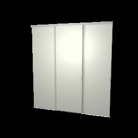 Schuifdeuren grijs groen 3-deurs