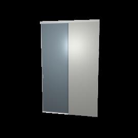 Schuifdeuren spiegel en aluminium 2-deurs