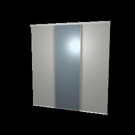 Schuifdeuren spiegel en aluminium 3-deurs