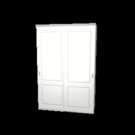 Schuifdeurkast Lars wit 2-deurs met wit kastinterieur