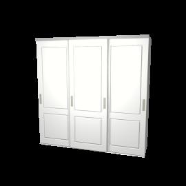 Schuifdeurkast Lars wit 3-deurs met wit kastinterieur