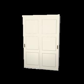 Schuifdeurkast Jens ivoor 2-deurs met wit kastinterieur