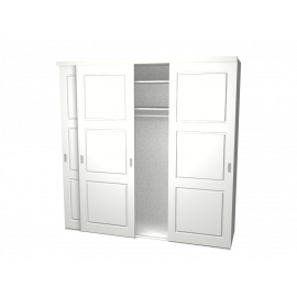 Schuifdeurkast Jens wit met kastinterieur wit 3-deurs