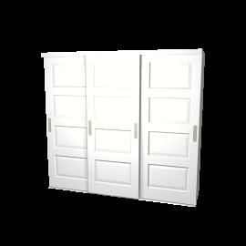 Schuifdeurkast Levi wit intrieur wit 3-deurs