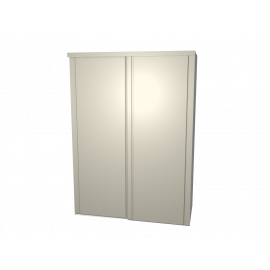 Schuifdeurkast Mirthe agaatgrijs met kastinterieur wit 2-deurs