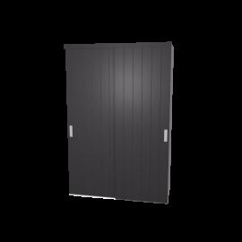 Schuifdeurkast Birgit antraciet met kastinterieur wit 2-deurs
