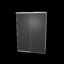Schuifdeurkast antraciet met kastinterieur wit 2-deurs