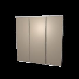 Schuifdeurkast agaatgrijs met kastinterieur antraciet 3-deurs