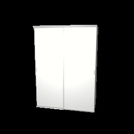 Schuifdeurkast wit met kastinterieur linnen 2-deurs