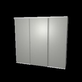 Schuifdeurkast aluminium met kastinterieur aluminium 3-deurs