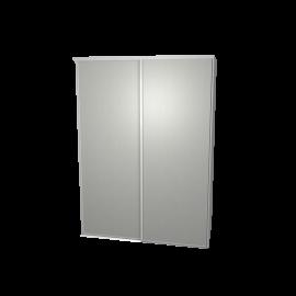 Schuifdeurkast aluminium met kastinterieur wit 2-deurs