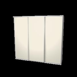 Schuifdeurkast ivoor met kastinterieur linnen 3-deurs