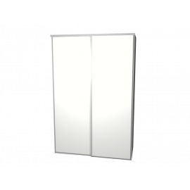 Schuifdeurkast wit met kastinterieur aluminium 2-deurs