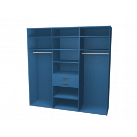 kastinterieur blauw 3 segmenten