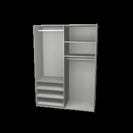 kastinterieur aluminium 2 segmenten
