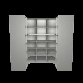 inloopkast aluminium met legplanken