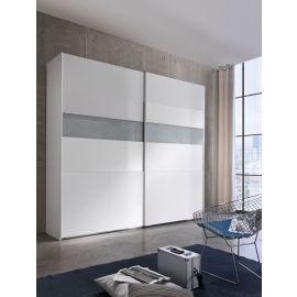 Garderobekast met schuifdeuren en horizontale onderbreking