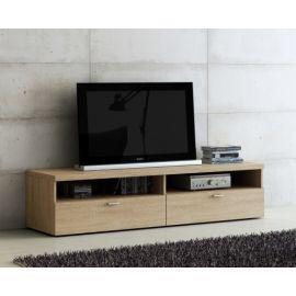 TV-kast klein van houtfineer