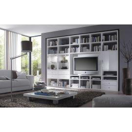 TV-kast op maat met glazen deuren