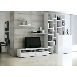 TV-kast op maat met boekenkast
