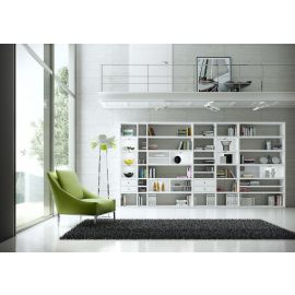 Wandkast op maat in wit met laden