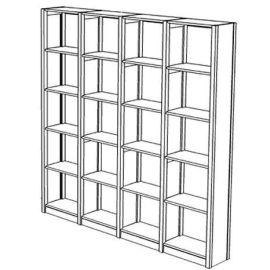 Boekenkast met 24 schappen
