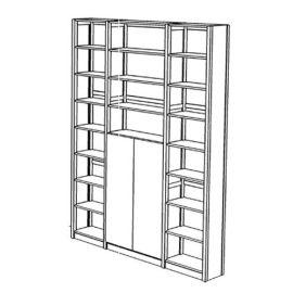 Boekenkast 23 schappen met deuren